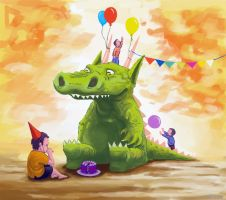 124 birthday monster by foice