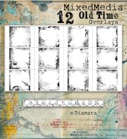 MixedMedia Old Time Overlays by Diamara