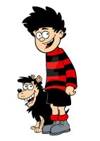 Dennis and Gnasher by Steve3po