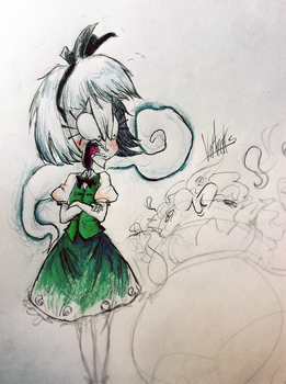 Prismacolor ft. Peachems (Gemu)'s angry Youmu by Vertecks