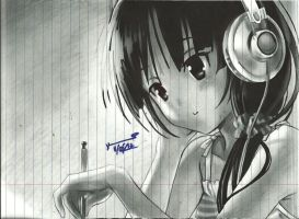Anime 1-Ball point, Pencil and Marker by syart