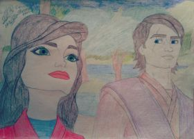 Star Wars Enstedella and Anakin by ChristineArrow