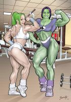 Apex and She Hulk Commission by Bambs79