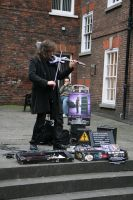 Urban violinist 5 by Random-Acts-Stock
