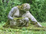 mourning woman mossy statue by Heyan88