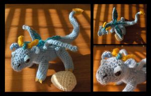 Baby Dragon Amigurumi by Sparrow-dream