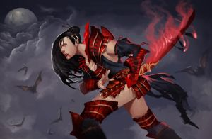 Rage Stained Blade by SaneKyle