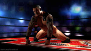 Randy Orton Naked 3D Render by DaemonCollection