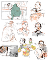 Pacific Rim Hermann+Newt doodles by Barukurii