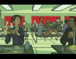 ALCATRAZ HIGH : Cafeteria Run by BobbyRubio