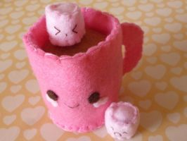 Hot Chocolate Mug Plushie by Tammyyy