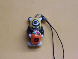 Halloween Kitty Minion Charm by QuoteCentric