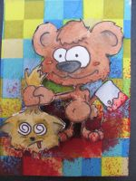 cute little animal gone evil ATC by nupharHALL