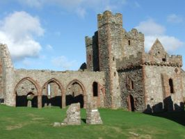 Peel Castle Church by Elyssandrel