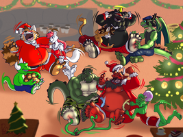 Merry Christmas and Happy Santa Clauses :) by benj24