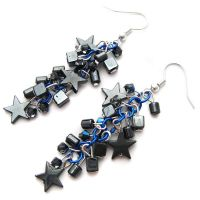 Hematite Star Earrings by fairy-cakes