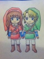 Nadine and Link Re-upload by Racheii