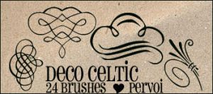 Celtic PS brushes by daintyish