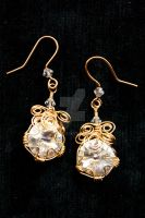 Wire Wrapped Rivolis by BenaeQuee