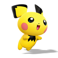 Pichu, Smash Bros Style Render by Nibroc-Rock