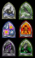 Asoiaf minor houses windows by guad