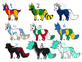 colordogs 2 by AdoptableFactory