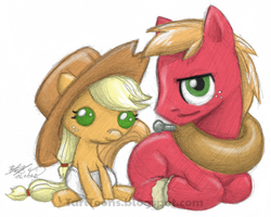 Applejacky and Lil' Macintosh by TariToons