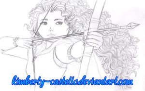 Disney: Merida Doodle 2 by kimberly-castello
