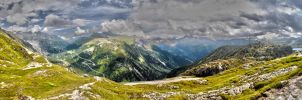 Swiss Alps panorama 2 by lg-studio