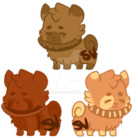 Donut Dog Auction: All 3 Available! by CannibaI