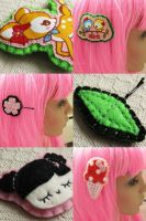 latest hair clips in the shop by hellohappycrafts