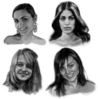 Female Face Study by MikeMeth