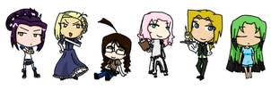 E.X.P charater chibis 2 by YouAskMeFirst2