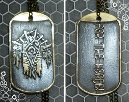 Horde dog tag world of warcraft by TimforShade