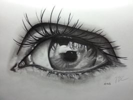 Pencil Drawing ~ Eye 2 by ozastark