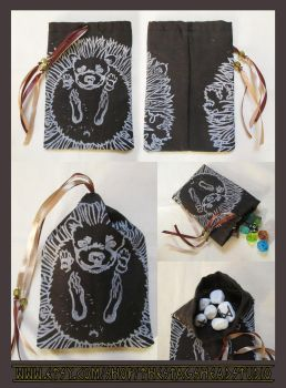 Roman Hedgehog Ball Pouch: For Tarot, Dice, Runes by ImogenSmid