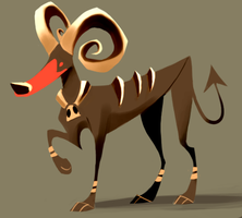 Houndoom by Canvascope