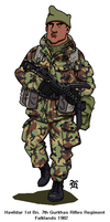 British Gurkha Falklands war by darthpandanl