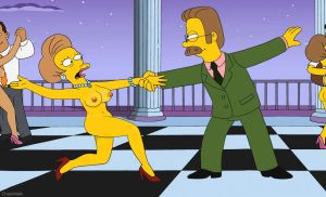 The Simpsons - Edna Krabappel nude dancing by 2ndChainMale