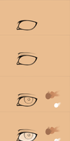 Semi-realistic Eye Process SAI by mjjdcf