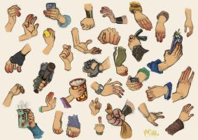 Hands Studies by ClaudioNaccari