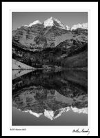 B+W Maroon Bells by kennedmh