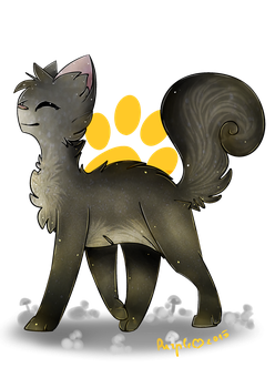 Graystripe!!! .:Commission:. by PurpleNightTheKitty