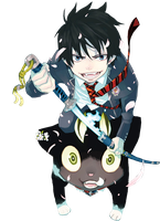 Rin Okumura png by theWhiteDEVIL66