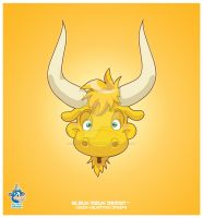 Yellow Yielding Yak by KawaiiUniverseStudio