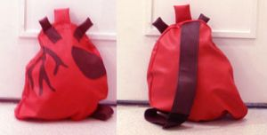 Red Human Heart Backpack by DeadBackpacks
