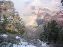 Grand Canyon and Snow by LaLiLuLeLooo