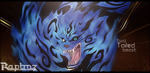 Two tailed beast - signature + .psd by Raptr0zz