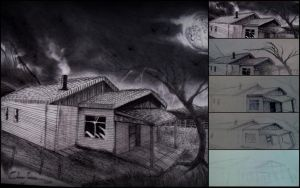 03 Architectural Drawing - Home and Landscape by Oscarliima
