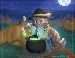 Double, double toil and trouble... (YCH) by CascadingSerenity